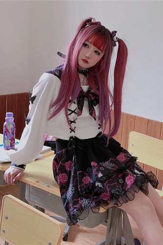Diamond Honey Edge Goth Sailor Uniform Top + Skirt Set