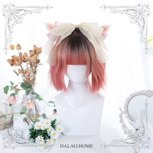 Dalao Home ~Youri Irregular Micro-curly Lolita Short Wigs