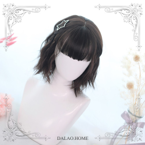 Dalao Home ~Lemon Tea-curly Lolita Short Wigs