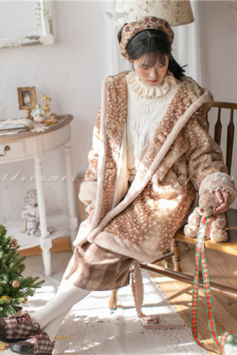 Sweet Dreamer ~Fawn Faux Winter Fur Coat