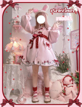 To Alice~ Strawberry Bear Coat Pink Size 1 - In Stock