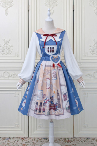 Alice Girl ~London Travel Lolita Salopette -Pre-order