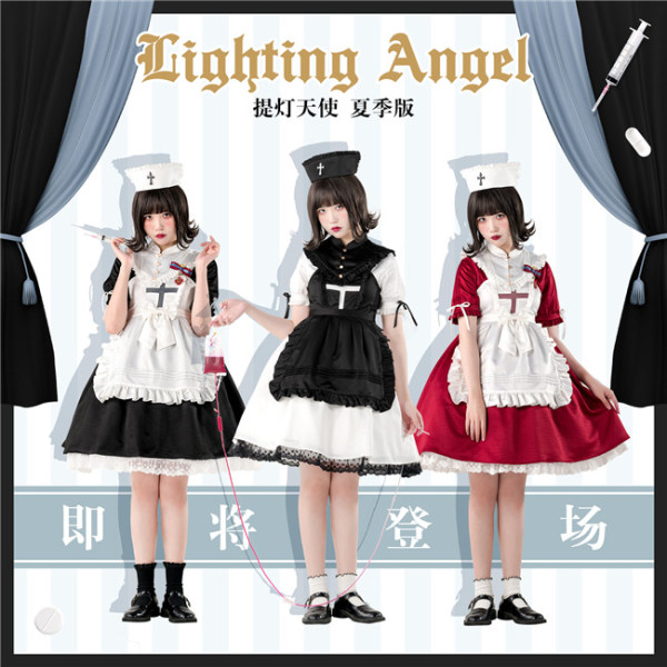 Luna Planetarium ~Lighting Angel~ Short Sleeves Lolita OP -Ready Made