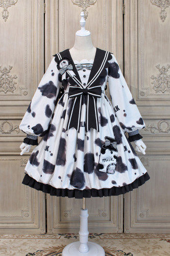 Alice Girl ~Buds Cows Sweet Lolita OP -Pre-order