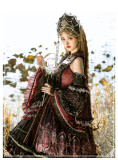 Eye of Red Heart~Vintage Elegant Lolita JSK -Pre-order