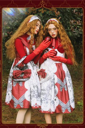 Magic Tea Party ~ Printed Alice Lolita Daily JSK -Pre-order