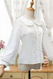Teenage student Lolita Blouse White Plush Version Size L - In Stock