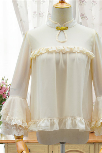 Midnight~Qi Lolita Stand Collar Blouse