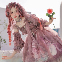Nine Ode ~Flowers In the Mirror Elegant Lolita Jumper -Pre-order