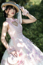 YUPBRO Lolita ~Peach Blossom Fan Lolita JSK-Ready made