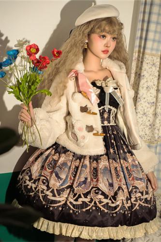 Explore the Stars~Vintage Sweet Lolita JSK/Coat -Pre-order