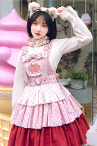 Withpuji Strawberry Melaleuca Lolita Layer Skirt-Pre-order