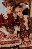 Party A Bear~Christmas Lolita Salopette/ OP/ Cape-Pre-order