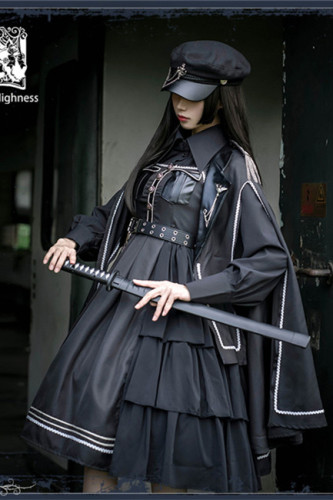 Night Owl ~Military Gothic  Lolita JSK /Set-Ready Made