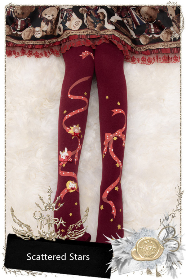 Yidhra Lolita ~Scattered Stars~Lolita Autumn and Winter Tights-Pre-order