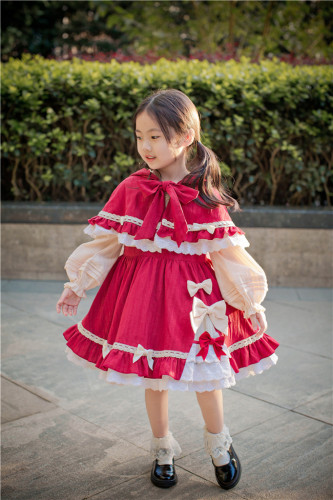 To Alice~Little Red Riding Hood Lolita OP/ Set  For Kids-Pre-order