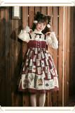 Poker Cat~ Classic Lolita JSK Slight High Waist -Ready Made
