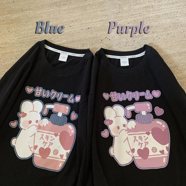Cartoon Bunny Prints T-shirt