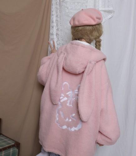Labeau Winter Double Side Wear Wool Embroidery Coat