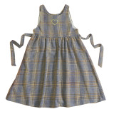 Labeau High Waist Thick Fabric Checkers Salopette Dress