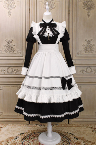 Alice Girl ~Maid Vintage Lolita Long Sleeves OP -Pre-order