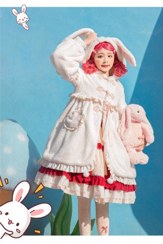 Woolen Rabbit Ears Lolita Long Coat