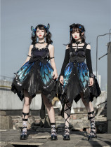 The Butterfly Effect ~Punk Halloween Lolita Normal Waist JSK