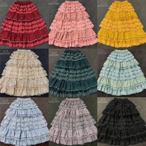 Culumi Lolita ~ Multilayer Vintage Underskirt/Petticoat - In Stock