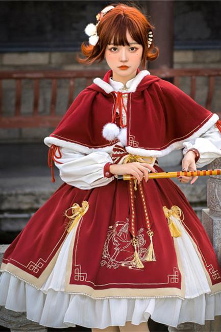 Golden Crane Return~Qi Lolita OP/Cape-Pre-order