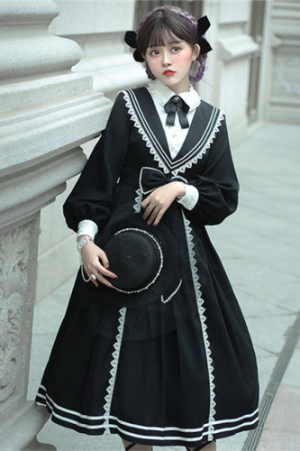 Pride and Prejudice~Elegant Long Sleeves Lolita OP-Pre-order