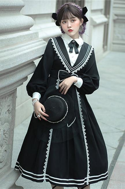 Pride and Prejudice~Elegant Long Sleeves Lolita OP-Pre-order