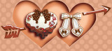 Chocolate Sweetheart Embroidered Apron -Pre-order