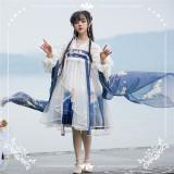 NyaNya Lolita Boutique ~Over the Sea the Moon Shines Bright Lolita Tippet -Pre-order