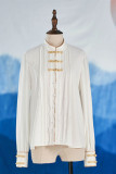NyaNya Lolita Boutique ~Over the Sea the Moon Shines Bright Qi Lolita Blouse -Pre-order