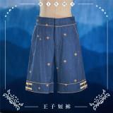 NyaNya Lolita Boutique ~Over the Sea the Moon Shines Bright Ouji Lolita Pants -Pre-order