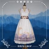 NyaNya Lolita Boutique ~Over the Sea the Moon Shines Bright Cheongsam Qi Lolita OP -Pre-order