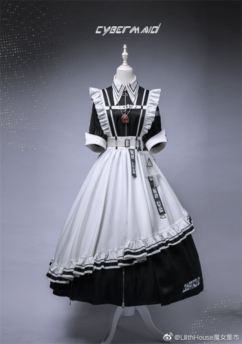 Lilith House ~Cyber Maid Maid Lolita Dresses Version I - Pre-order