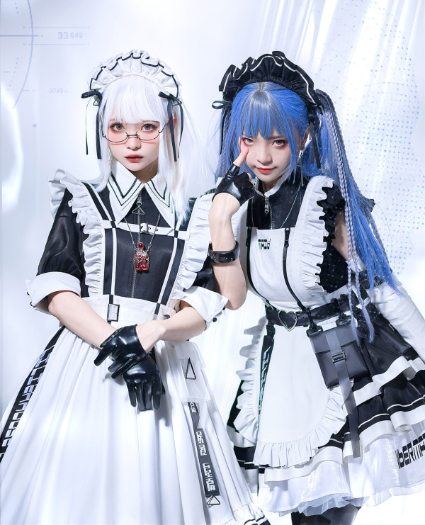 Lilith House ~Cyber Maid Maid Lolita Dresses -Pre-order