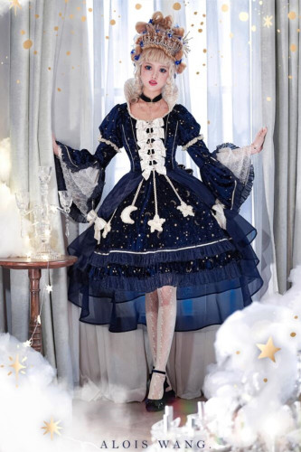 AloisWang ~The Kingdom of Stars & Moon Elegant Lolita OP -Pre-order