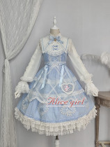 Alice Girl ~Alice~ Lace Bow Lolita JSK -Pre-order Blue Black Size M - In Stock