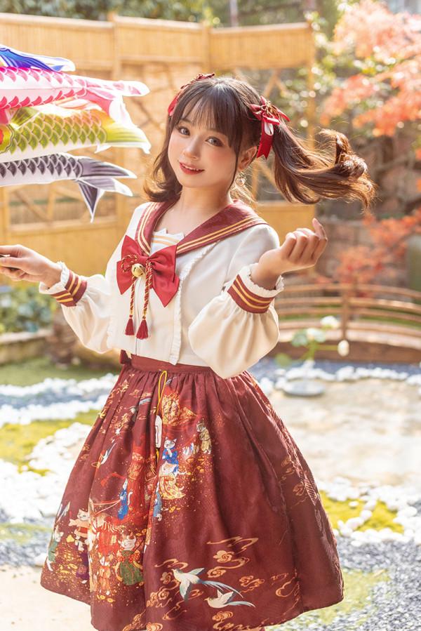 Alice Girl ~Bride-price Cat Sailor Style  Lolita Set -Pre-order