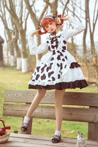 Sweet Cow High Waist Lolita JSK -Pre-order