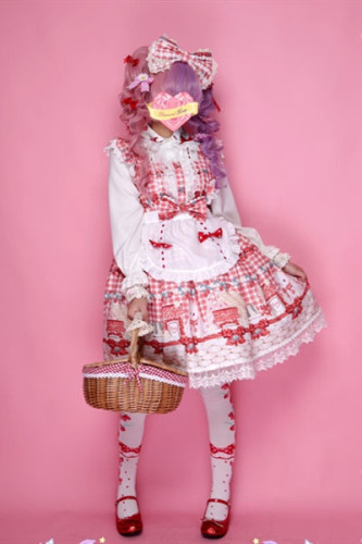 Diamond Honey ~Strawberry Picnic Bunny Sweet Lolita Jumper -Pre-order
