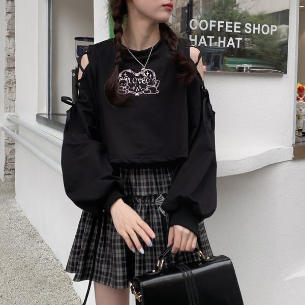Bibibency Black Embroidery Top Wear Shirt & Skirt