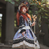Birds in the Mirror ~Retro Tea Party Lolita OP -Pre-order