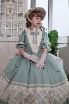 Miss Point ~Margaret Daily Wear Cotton Lolita OP Short Sleeves -Pre-order