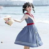 Blue Poem Sweet College Style Lolita JSK -Pre-order