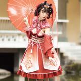 Vintage Han Style Lolita JSK Fullset -Pre-order