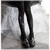Yidhra Lolita ~ Wisteria Velvet Lolita Tights