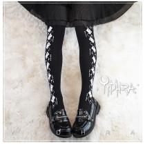Yidhra Lolita ~Cards Printed Lolita Tights/Above Knee Socks